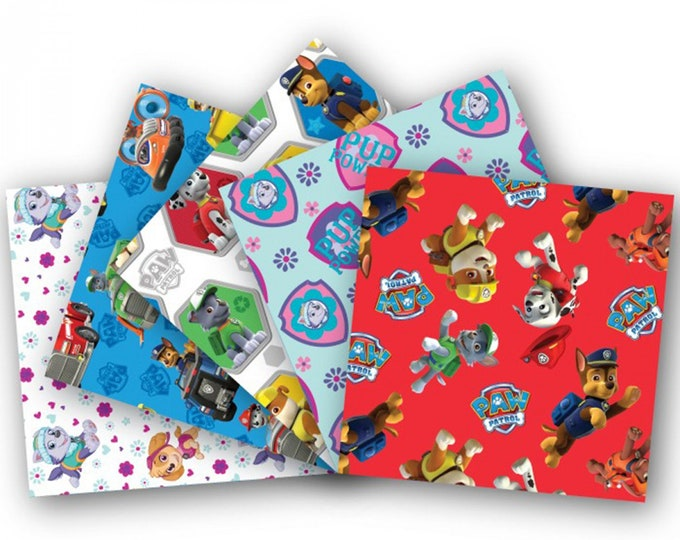 CHILDREN'S PAW PATROL Fat Quarter Pack Cotton Fabric