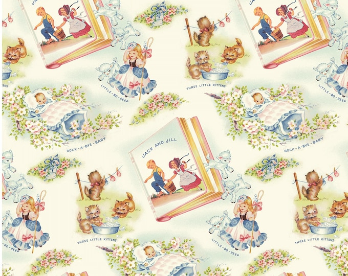 THAT'S MY BABY Children's Cotton Fabric by Sara Morgan for Washington Street Fabrics