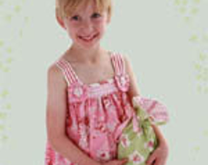 Child's Dress Pattern, Baby Doll Dress and Purse Pattern by Maw-Bell Designs