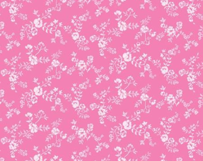 Children's Fabric, A Bundle of Joy Pink Tiny Floral Cotton Fabric by Red Rooster
