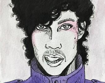 Prince Mini Ink Drawing