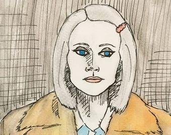 Margot Tenenbaum Mini Ink Drawing