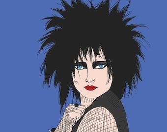 Siouxsie Sioux Portrait Print