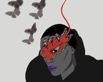 Grace Jones/Philip Treacy Illustration - Butterfly