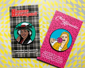 CLUELESS Enamel Pin Set (Cher and Dionne)