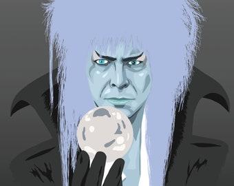 Labyrinth Goblin King (David Bowie) Print