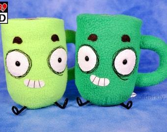 Hug-A-Mug Limited Edition plush coffee mug 2 colors