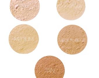 Mineral Makeup Foundation Samples • Natural Vegan & Gluten-Free Makeup • Earth Mineral Cosmetics Brand