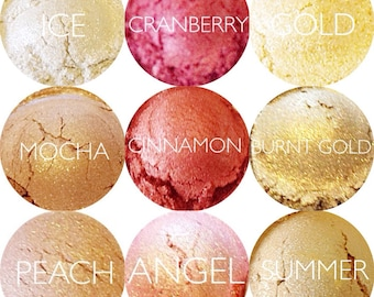 Mineral Eyeshadow Samples  • Mineral Makeup • Vegan and Gluten-Free Natural Mineral Makeup • Earth Mineral Cosmetics