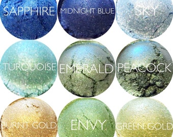 Mineral Eyeshadow Samples Pick 3  • Mineral Makeup • Vegan and Gluten-Free Natural Mineral Makeup • Earth Mineral Cosmetics