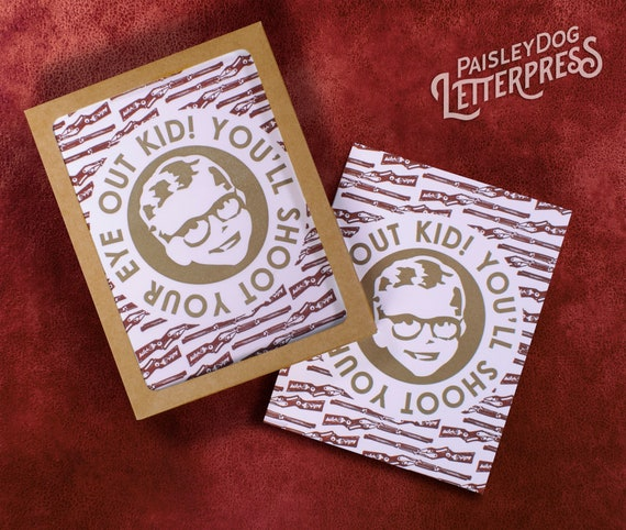 A Christmas Story Kid Now.Letterpress Greeting Cards Holiday Movie Classics A Christmas Story Shoot Your Eye Out Ralphie Gift Boxed Set Of 6