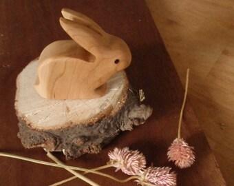 mr. long ears /waldorf wood rabbit toy