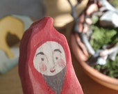Fellow Gnome at Home in Spring Garden - ( Waldorf Wood Nestling Play Set)