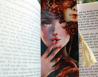 The Brief Glimpse bookmark. venetian mask masquerade