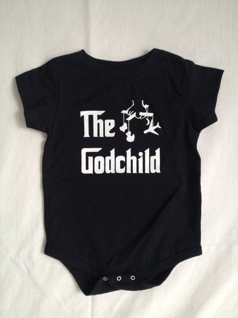 The Godchild original parody baby bodysuit baptism gift for a image 0