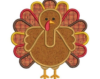 Thanksgiving Fall Turkey Applique II Machine Embroidery Designs 4x4 & 5x7 Instant Download Sale