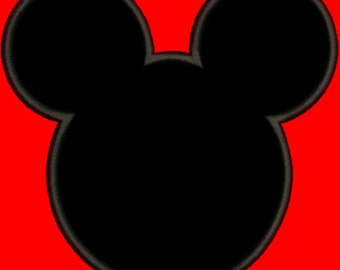 Applique Mickey Mouse Outline Disney Inspired Machine Embroidery Designs - 3 Sizes Incl. - Instant Download Sale