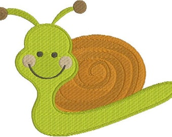 Snail Machine Embroidery Designs 4x4 & 5x7 Instant Download Sale