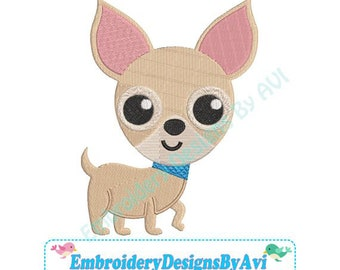 Chihuahua Puppy Dog Machine Embroidery Designs 4x4 & 5x7 Instant Download Sale