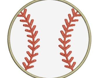 Baseball Applique II Machine Embroidery Designs 4x4 & 5x7 Instant Download Sale