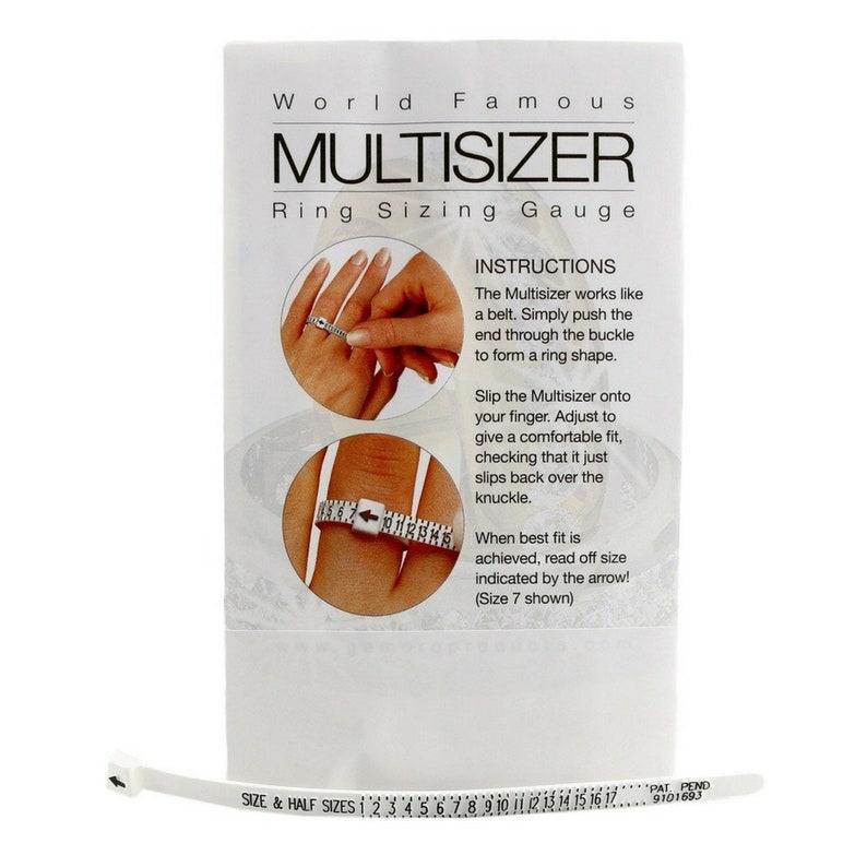 RING SIZER GAUGE Multisizer Ring Size Measuring Finger image 0