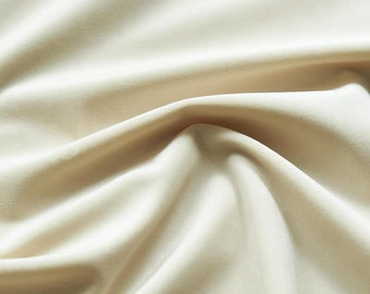 Parchment White Velvet Upholstery Fabric by the Yard - White Velvet Parchment White Velvet Fabric