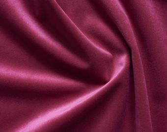 Raspberry Red Velvet Upholstery Fabric by the Yard - Raspberry Velvet Raspberry Red Velvet Fabric