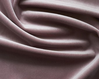 Mauve Purple Velvet Upholstery Fabric by the Yard -  Light Purple Velvet Purple Velvet Fabric