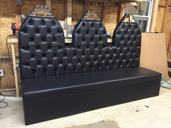 Astonishing Tufted Kitchen Banquette Kitchen Bench Booth Kitchen Seating Black Faux Leather Bench Gamerscity Chair Design For Home Gamerscityorg