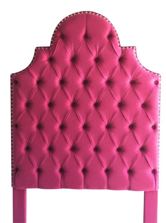 Doble tamaño tapizado cabecero Tufted cabecero rosa cabecero   Etsy