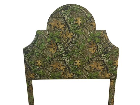 Tamaño de la reina de la tela de camuflaje tapizado cabecero