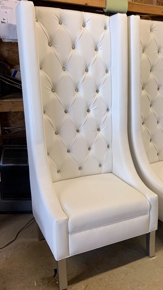Tremendous Luxurious Extra Tall Wingback Chair Tufted Wingback Chair With Crystals Ocoug Best Dining Table And Chair Ideas Images Ocougorg