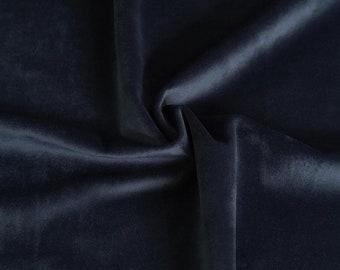 Midnight Dark Blue Velvet Upholstery Fabric by the Yard - Blue Velvet Dark Blue Velvet Fabric