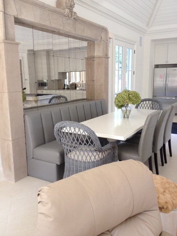 Kitchen Banquette With Channel Back Etsy
