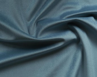 Creamy Blue Velvet Upholstery Fabric by the Yard -  Baby Blue Velvet Blue Velvet Fabric