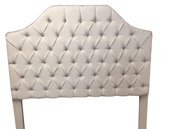 Queen Size cabecera tapizada con pedrería Reina tamaño
