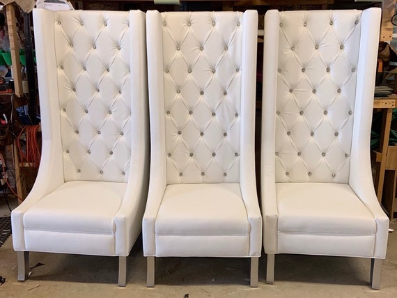 Remarkable Luxurious Extra Tall Wingback Chair Tufted Wingback Chair With Crystals Ocoug Best Dining Table And Chair Ideas Images Ocougorg