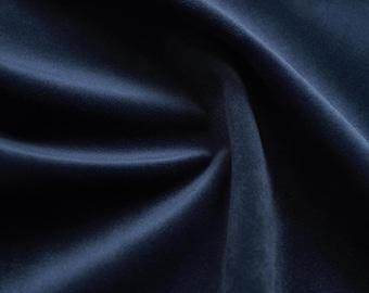 Navy Blue Velvet Upholstery Fabric by the Yard - Navy Blue Velvet Dark Blue Velvet Fabric