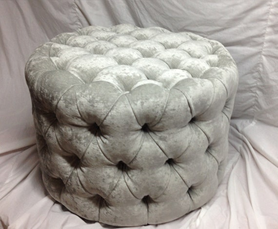 Peachy Round Tufted Ottoman Upholstered Ottoman Coffee Table Tufted Stool Round Stool Custom Made Ottoman Squirreltailoven Fun Painted Chair Ideas Images Squirreltailovenorg