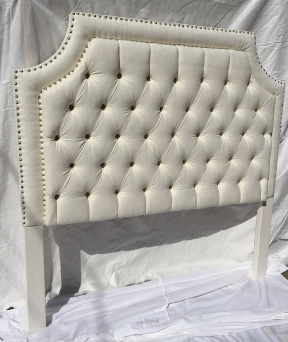Queen White Tufted Upholstered, Upholstered Bed Frame Queen White