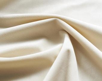 Ivory White Velvet Upholstery Fabric by the Yard -  Ivory White Velvet White Velvet Fabric