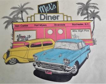 Mels Diner Menu Retro Drive In Vintage
