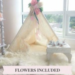 Playroom Lace Teepee with Flowers