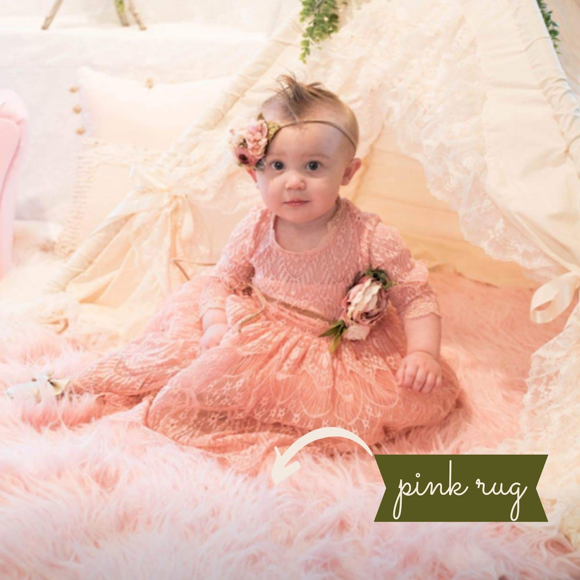 Shabby Chic Nursery Decor - Boho Lace Teepee