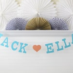 Custom Banner Name - 5 inch Letters with Heart - Custom Wedding Banner Bridal Shower Decoration Wedding Reception Sign Personalized Banner