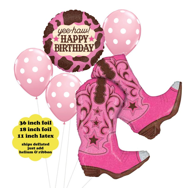 Cowgirl Birthday Balloon Bouquet Western Party Decorations