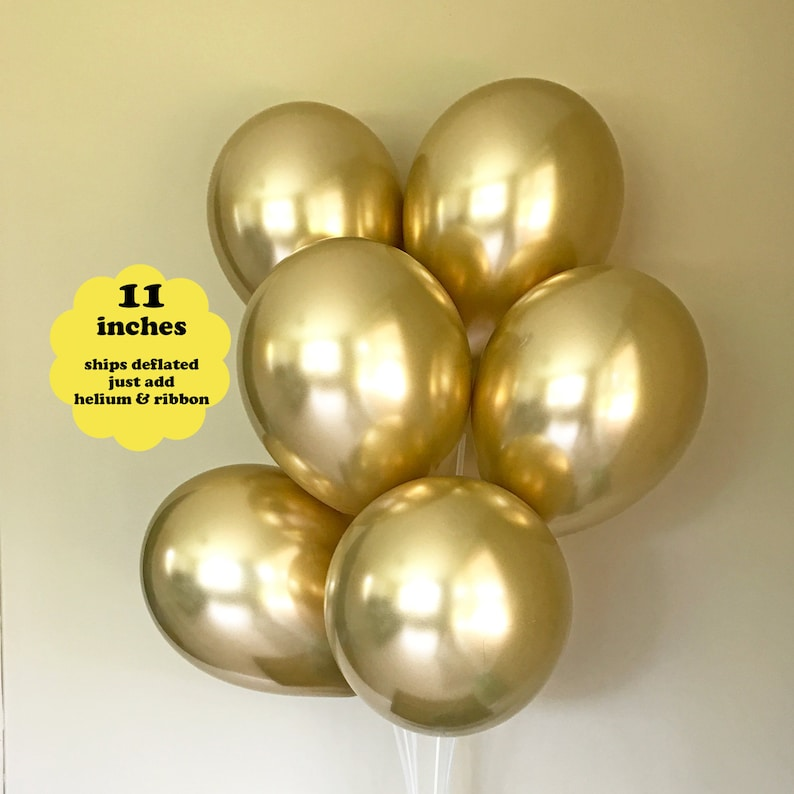 "6 PACK 11/"" GOLD SILVER BLACK HAPPY BIRTHDAY LATEX HELIUM BALLOONS DECORATIONS"