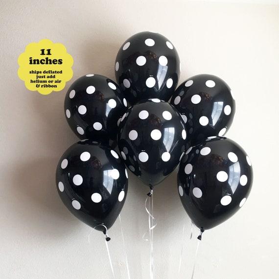 Black White Balloons 6 Pack 11 Latex Black Balloons Bridal