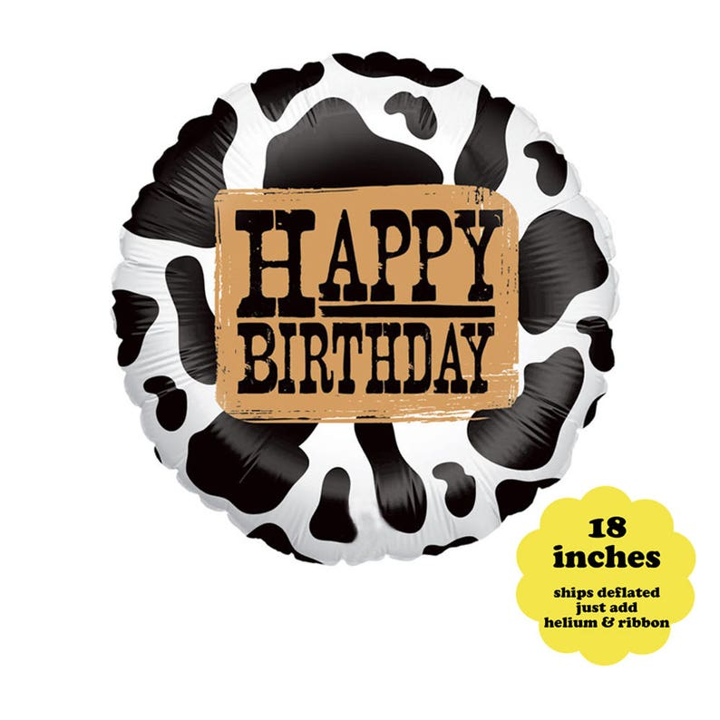 Western Birthday Balloon  18 Cowboy Party Decorations image 1