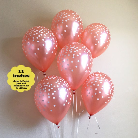 10 Pack 11 1st First Birthday Girl Pink Latex Balloons with Matching Ribbons